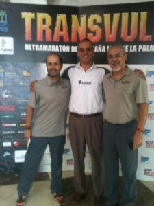 With a race organizar and Angel, of the La Palma Tourism Board
