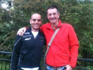 con mi amigo Jesus from Basque Country