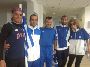 With Team Greece at the Opening Ceremony