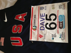Team USA Nike Vest with bib number