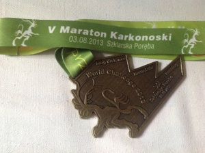 Finisher's Medal given to my girlfriend Natalie