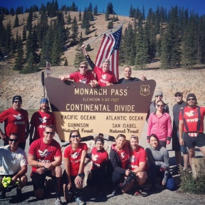 Team RWB Denver with a crew of Army Rangers took Old Glory over the Continential Divide